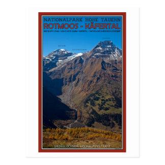 Cartão Postal Hohe Tauern - Rotmoos-Kafertal
