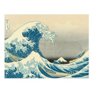 Cartão Postal Hokusai - sob a onda fora de Kanagawa