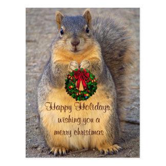 Cartão Postal Holidays_ feliz