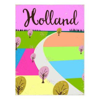 Cartão Postal Holland coloca o poster de viagens