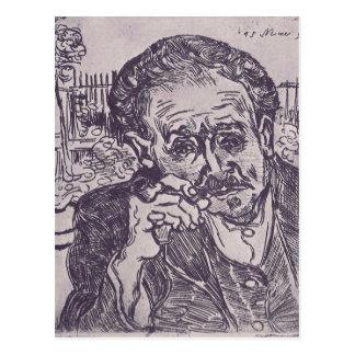 Cartão Postal Homem com a tubulação por Vincent van Gogh