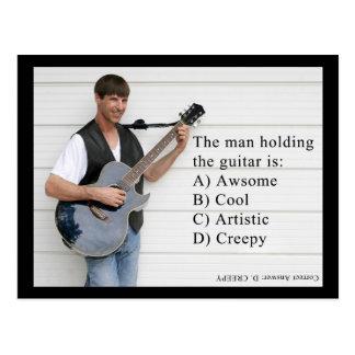 Cartão Postal homem com guitarra