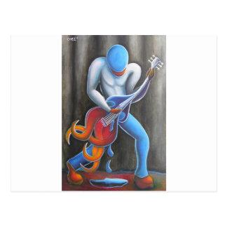 Cartão Postal Homem da guitarra