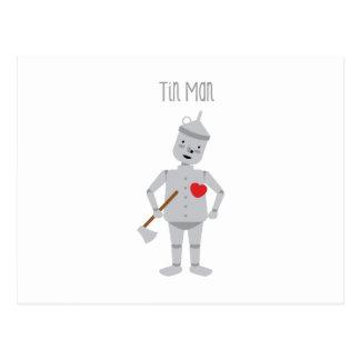 Cartão Postal Homem da lata