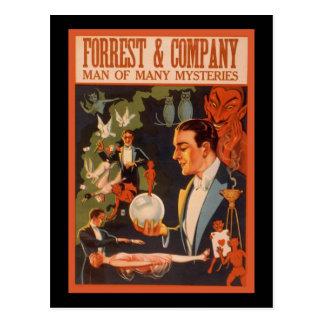 Cartão Postal Homem de Forrest & Empresa de muitos mistérios
