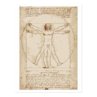 Cartão Postal Homem de Vitruvian
