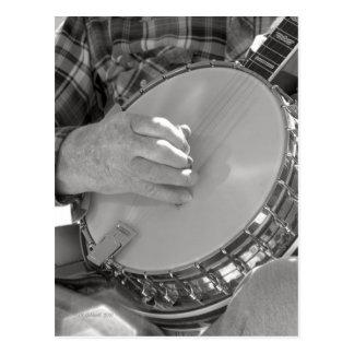 Cartão Postal Homem do banjo