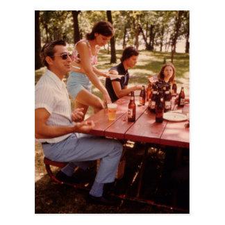 Cartão Postal Homem, eu amo a cerveja! - Vintage