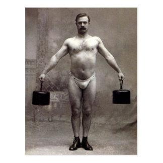 Cartão Postal Homem forte do vintage