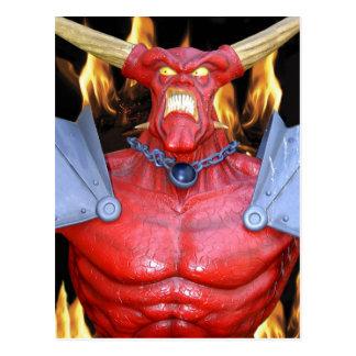 Cartão Postal Homem Horny do diabo