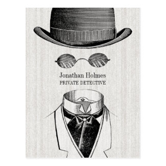 Cartão Postal Homem invisível do detetive privado