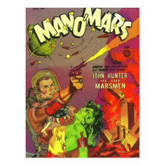 Cartão Postal Homem O Marte
