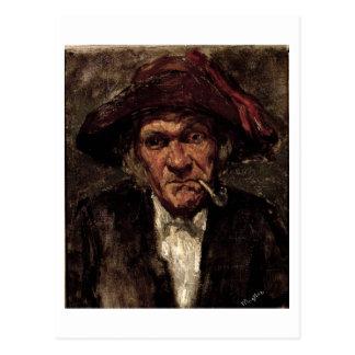 Cartão Postal Homem que fuma uma tubulação, c.1859