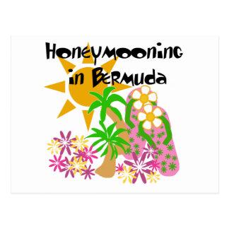 Cartão Postal Honeymooning em Bermuda