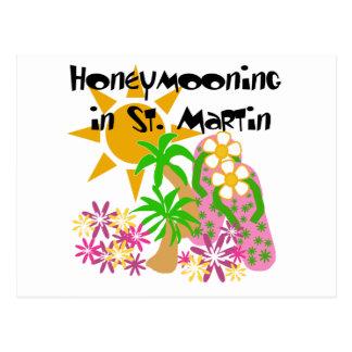 Cartão Postal Honeymooning em St Martin