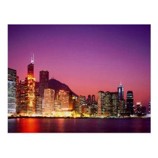 Cartão Postal Hong Kong na noite