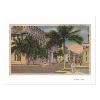 Cartão Postal Honolulu, HIView do Bishop St.Honolulu, HI