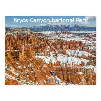 Cartão Postal Hoodoos no parque nacional da garganta de Bryce do
