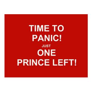 Cartão Postal Hora de apavorar-se! Apenas um príncipe deixado!