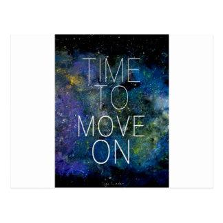 Cartão Postal Hora de mover sobre - cósmico, céu nocturno com