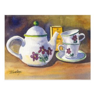 Cartão Postal Hora para o chá