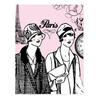 Cartão Postal Hora para Paris
