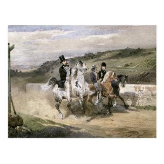 Cartão Postal Horace Vernet e suas crianças
