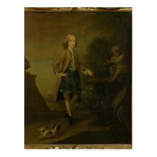Cartão Postal Horace Walpole, envelhecido 10, 1727-8