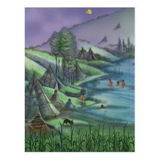 Cartão Postal horas de verão no vale