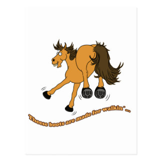 Cartão Postal Horse boots
