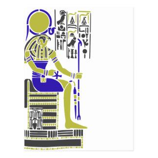 Cartão Postal Horus o falcão Egyption Heiroglyph