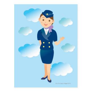 Cartão Postal Hospedeiros de bordo