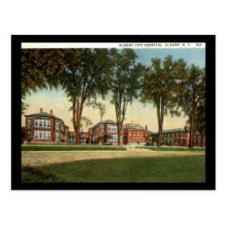 Cartão Postal Hospital da cidade, vintage 1928 de Albany, New