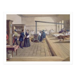 Cartão Postal Hospital em Scutari, detalhe de Florença