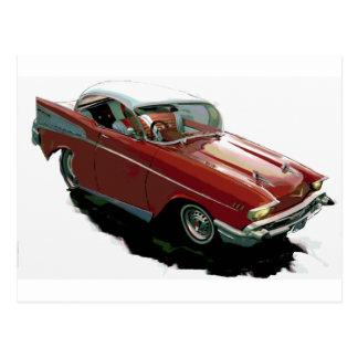 Cartão Postal Hot rod Chevy 1957