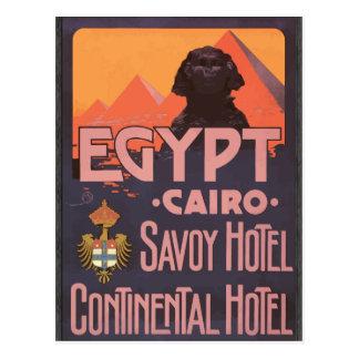 Cartão Postal Hotel continental do hotel de Savoy de Egipto o