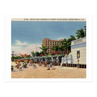 Cartão Postal Hotel da plaza de Roney, vintage de Miami Beach,