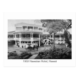 Cartão Postal Hotel de 1902 Hawaiian, foto do vintage de Havaí