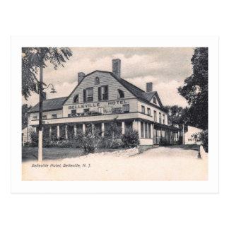 Cartão Postal Hotel de Belleville, Belleville, vintage de