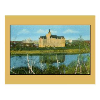 Cartão Postal Hotel de Bessborough, Saskatoon, Saskatchewan