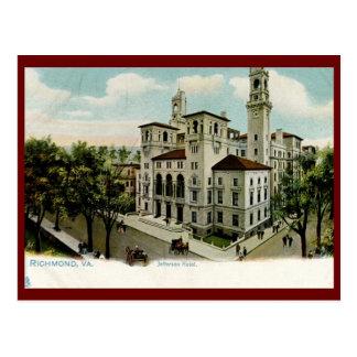 Cartão Postal Hotel de Jefferson, Richmond, vintage do VA