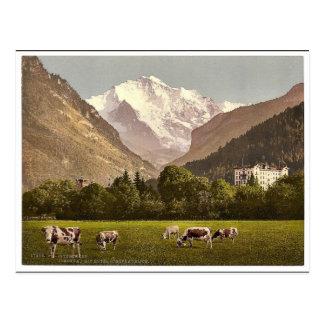 Cartão Postal Hotel de Jungfrau e de Jungfraublick, hotel de