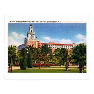 Cartão Postal Hotel de Romney, vintage de Miami Beach, Florida