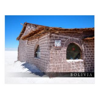 Cartão Postal Hotel de sal de Uyuni em Bolívia