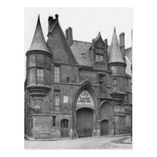 Cartão Postal Hotel de Sens, século-cedo de finais do século