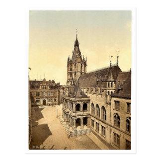Cartão Postal Hotel de Ville, água de Colônia, o Rhine, classi