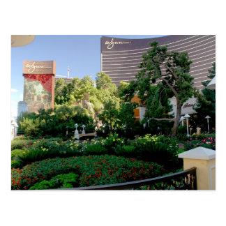 Cartão Postal Hotel de Wynn e jardim do casino