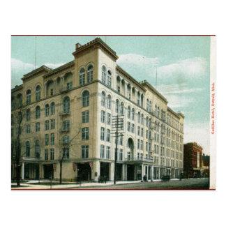 Cartão Postal Hotel do cadillac, vintage 1907 de Detroit