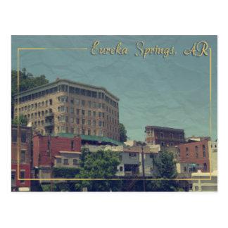 Cartão Postal Hotel do centro da bacia de Eureka Springs,