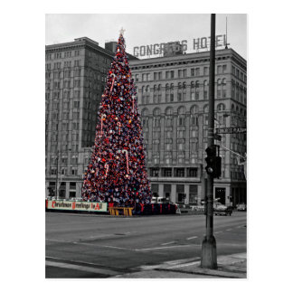 Cartão Postal Hotel do congresso do Natal de Colorsplash dos